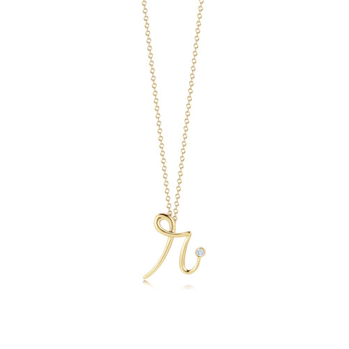 Kwiat Diamond Initial Pendant Pendant in 18k yellow gold