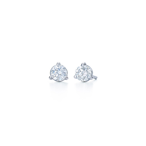 Kwiat Diamond Stud Earrings Round brilliant Diamond Stud Earrings Style 18153