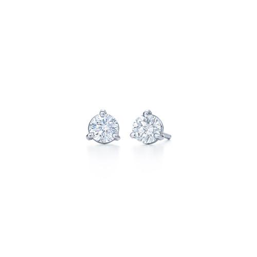 Kwiat Diamond Stud Earrings Round brilliant Diamond Stud Earrings Style 18153