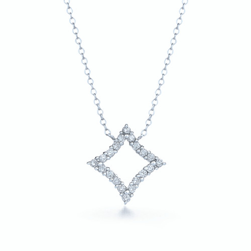 Kwiat Evergreen Diamond Pendant Diamond pendant in 18k white gold
