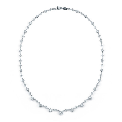 Kwiat Sunburst Diamond Necklace Diamond necklace in 18k white gold