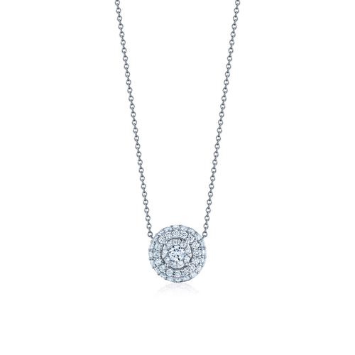 Sunburst Diamond Pendant Diamond Pendant in 18k white gold