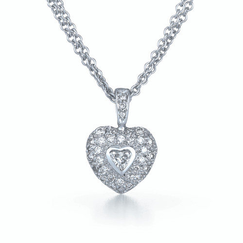 Kwiat Rox Diamond Pendant Diamond pendant in 18k white gold