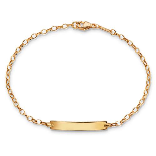 Monica Rich Kosann 18K YELLOW GOLD PETITE POESY BRACELET