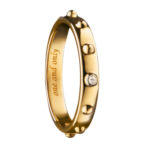 """Monica Rich Kosann """"ONE AND ONLY"""" POESY RING NECKLACE in Yellow Gold"""