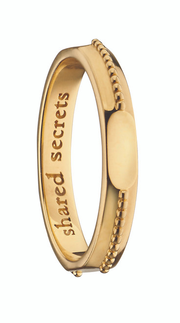 """Monica Rich Kosann """"SHARED SECRETS"""" SIGNET POESY RING NECKLACE in Yellow Gold"""