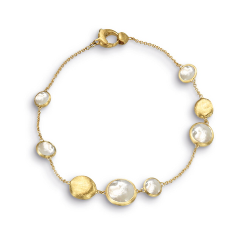 Marco Bicego Jaipur Collection Bracelet in Yellow gold with mother of pearl