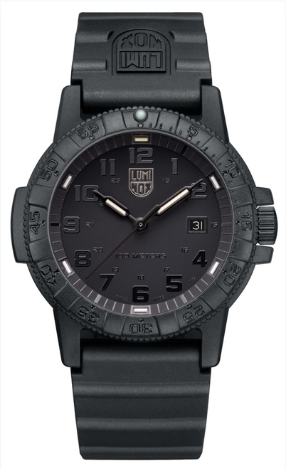 Luminox Sea Turtle Giant 0321.BO watch with black dial, band, and face.