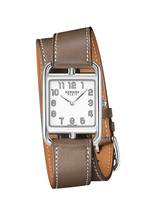 Cape Cod women's Hermes watch with calfskin band.