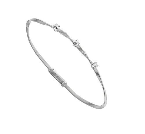 Marco Bicego Marrakech Single Strand Diamond Bracelet in White Gold.