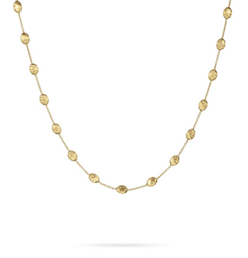 Marco Bicego Jaipur Medium Bead 18K yellow gold necklace.