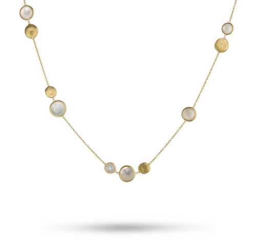 Marco Bicego Jaipur Collection with Mother of Pearl and 18K yellow gold.