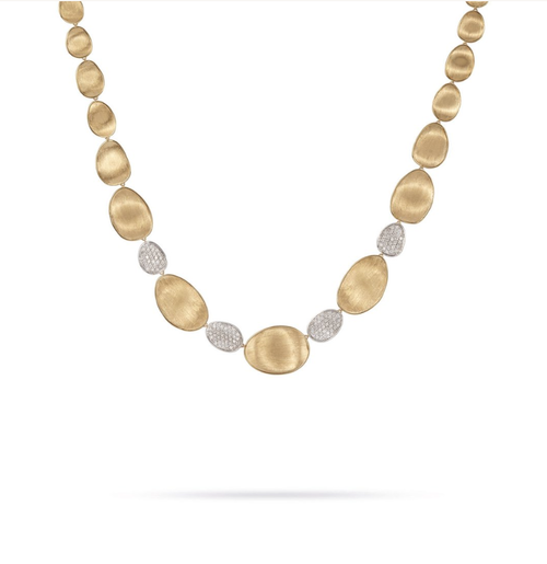 Marco Bicego Lunaria Collection 18K yellow gold necklace with diamonds