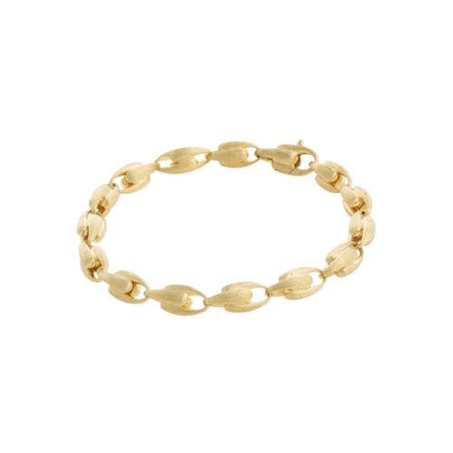 Marco Bicego Lucia 18k hand engraved yellow gold link bracelet