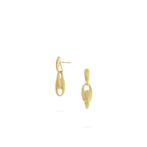 Marco Bicego Lucia 18k hand engraved yellow gold link earrings  SKU OB1646Y