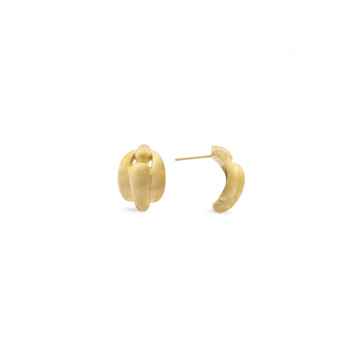 Marco Bicego Lucia 18k hand engraved yellow gold stud earrings SKU OB1670Y