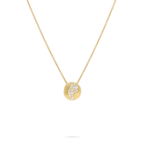 Marco Bicego Africa Constellation 18k hand engraved yellow gold diamond pendant  SKU CB2291BY
