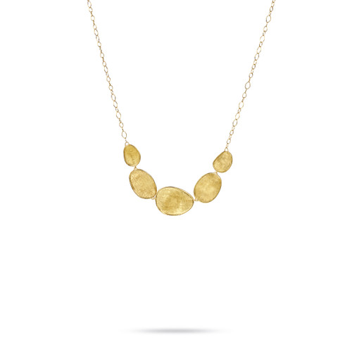 Marco Bicego Lunaria 18k hand engraved yellow gold necklace  SKU CB1779Y