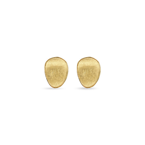 Marco Bicego Lunaria 18k hand engraved yellow gold medium stud earrings  SKU OB1343Y