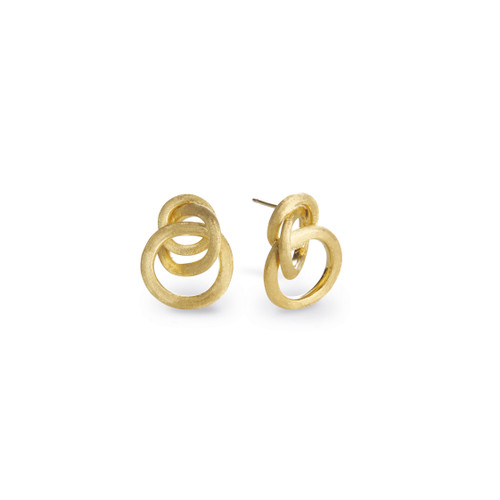 Marco Bicego Jaipur 18k hand engraved yellow gold stud earrings  SKU OB938Y