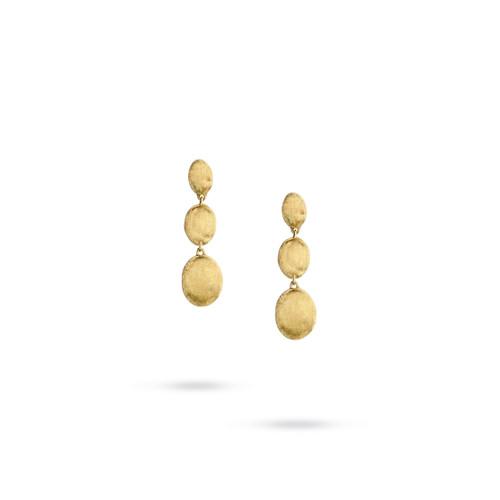 Marco Bicego Siviglia 18k hand engraved yellow gold drop earrings  SKU OB1234Y