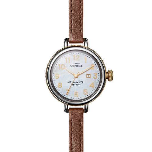 Birdy 3HD 34mm, MOP Whiskey Leather Strap