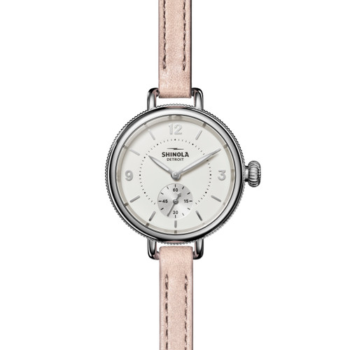 Birdy Sub Second 34mm, Soft Blush Leather Strap