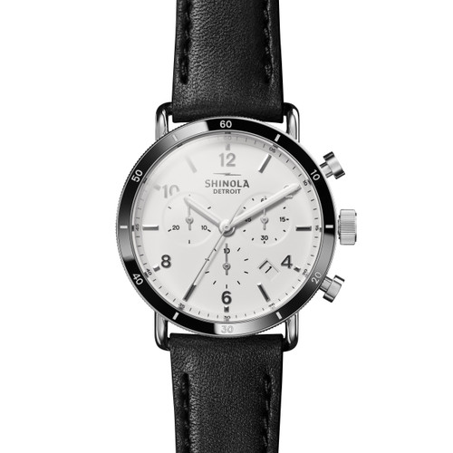 Canfield Sport 40mm, Black Leather Strap