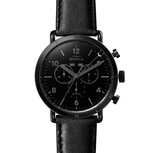 Canfield Sport 45mm, Black Leather Strap