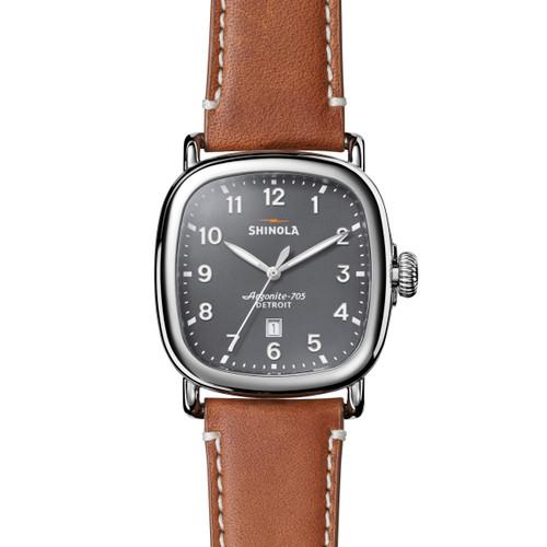 Guardian 3HD 41.5x43mm, Tan Leather Strap