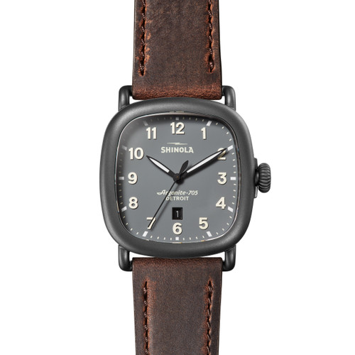 Guardian 41.5 x 43mm, Cattail Brown Leather Strap