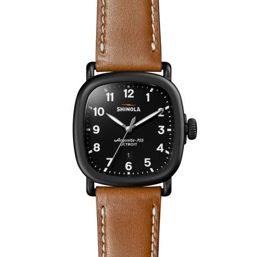 Guardian 41.5 x 43mm, Deep Tan Leather Strap