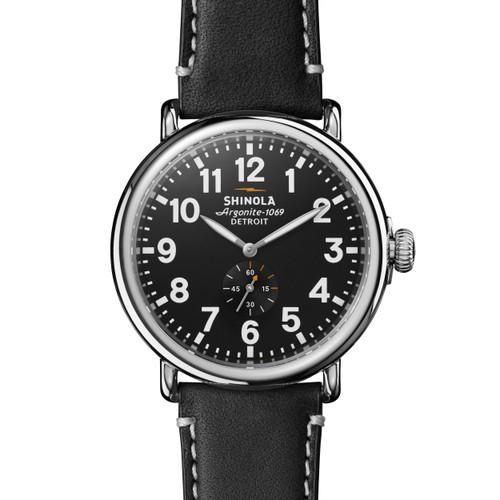 Runwell 47mm, Black Leather Strap