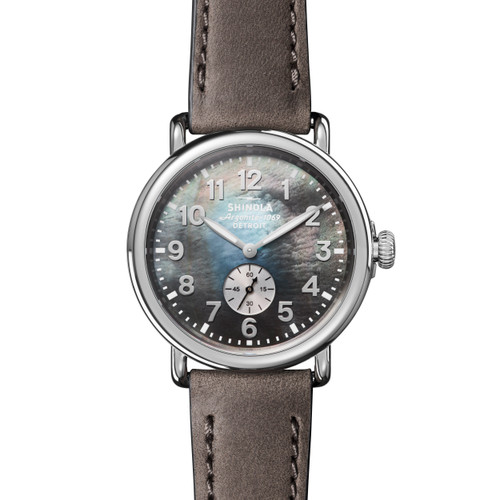Runwell Sub Second 41mm, Heather Gray Leather Strap