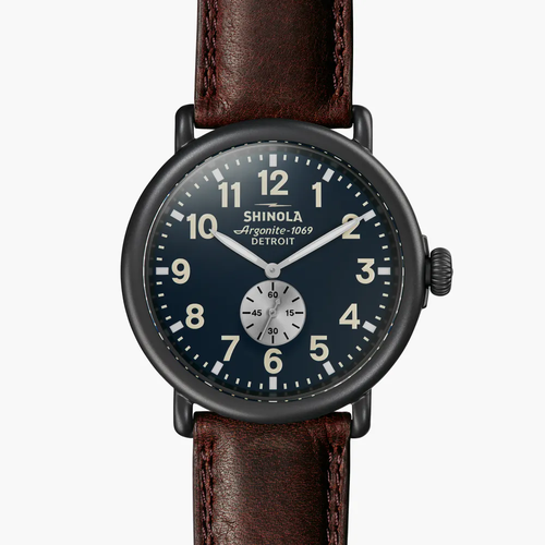 Runwell 47mm, Cattail Leather Strap