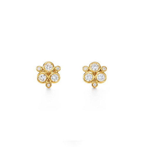 Temple St. Clair 18KT Yellow Small Gold Diamond Trio Earring
