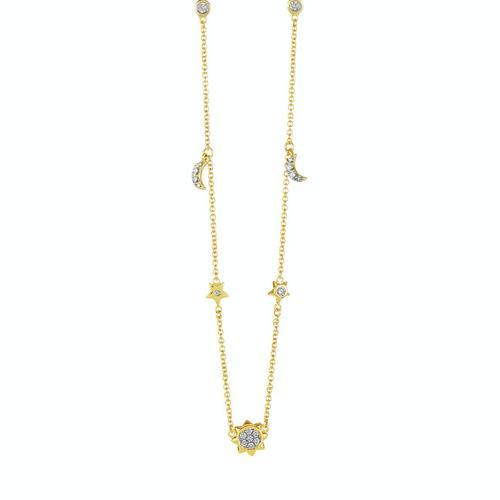 Monica Rich Kosann Sun Moon and Stars 18'' Necklace