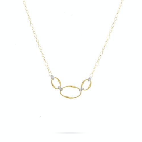 Marco Bicego® Marrakech Onde 18K Yellow Gold and Diamond Half Collar