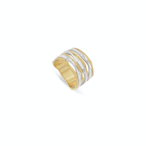 Marco Bicego® Marrakech Onde Collection 18K Yellow Gold and Diamond Multi Strand Ring