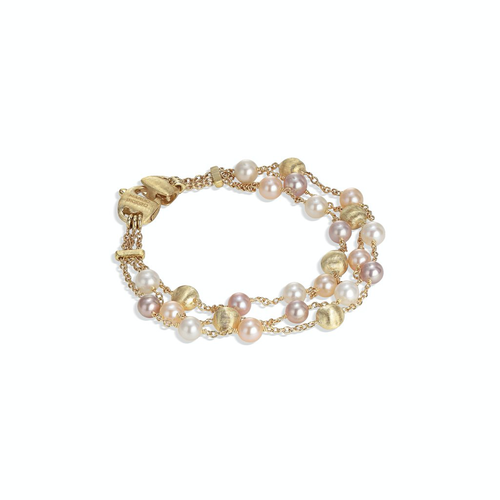 Marco Bicego® Africa Pearl Collection 18K Yellow Gold and Pearl Three Strand Bracelet