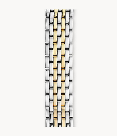 Michele Watch Band 18mm Deco 7-Link Two-Tone Bracelet