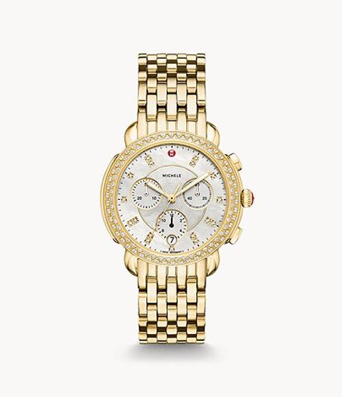 Sidney Diamond Gold, Diamond Dial Watch
