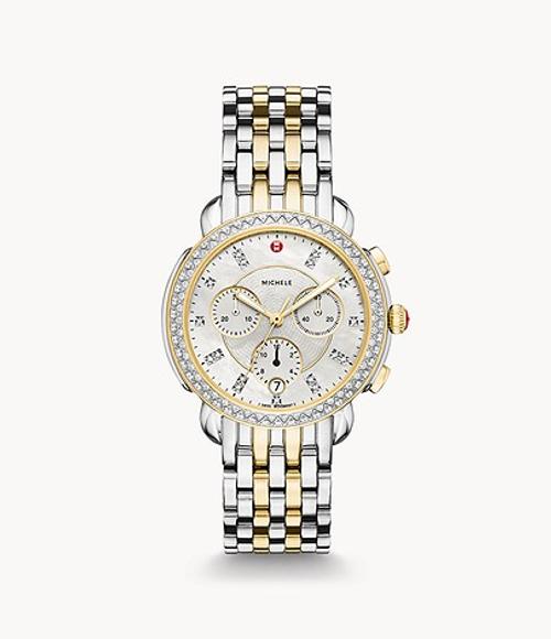 Sidney Diamond Two-Tone, Diamond Dial Watch