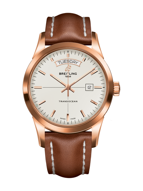 Breitling Transocean 18K Red Gold Day/Date