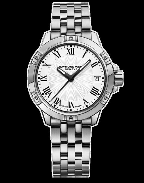 Raymond Weil Tango Classic Ladies White Dial Quartz Watch 30 mm, stainless steel bracelet, white dial, black Roman numerals