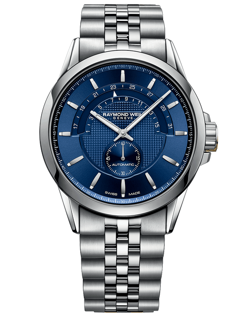 Raymond Weil Freelancer Men's Half-moon Blue Automatic Date Watch