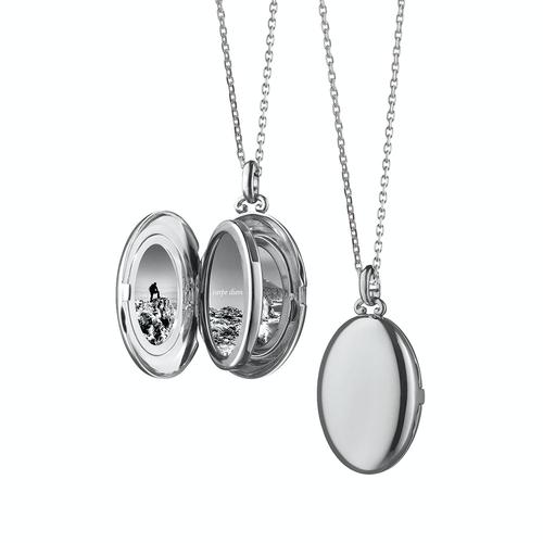 "Monica Rich Kosann Then ""Midi"" Four Image Locket in Sterling Silver"