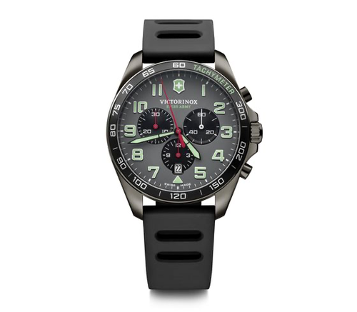 Victorinox FieldForce Sport Chrono Grey Dial, Black Rubber