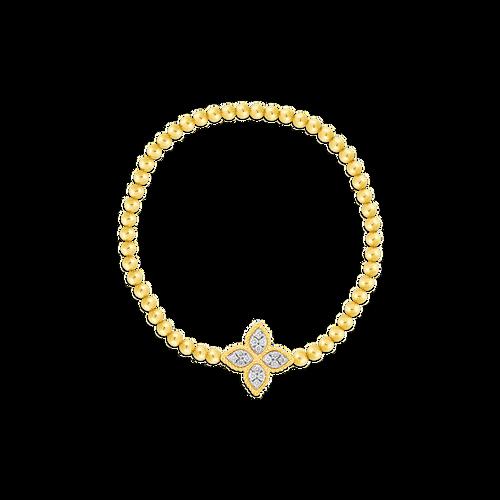 Roberto Coin 18K Princess Flower Stretch Bracelet with Medium Diamond Flower