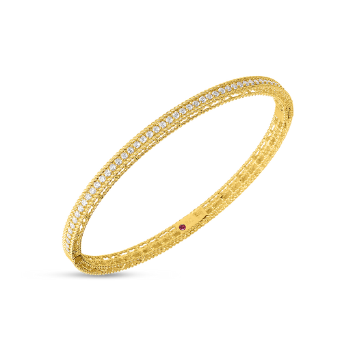 Roberto Coin 18KT Symphony Princess Oval Bangle